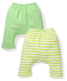 Morisons Baby Dreams Diaper Leggings Pack of 2 - Green And Yellow