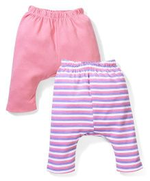 Morisons Baby Dreams Diaper Leggings Pack of 2 - Pink And Purple