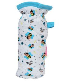 Morisons Baby Dreams Bottle Cover Honey Bee Print - Blue