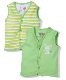 Morisons Baby Dreams Sleeveless Vests Set of 2 - Green