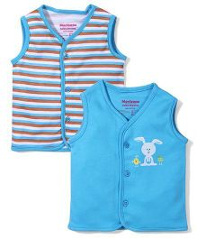 Morisons Baby Dreams Sleeveless Vests Set of 2 - Blue