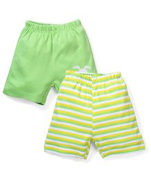 Morisons Baby Dreams Casual Shorts Set of 2 - Green Yellow