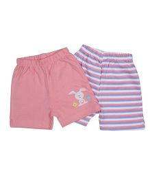 Morisons Baby Dreams Casual Shorts Set of 2 - Pink Blue