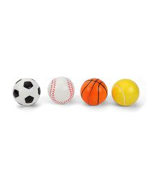 Sports Ball Set Multicolour - Pack of 4