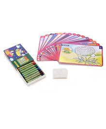 Mansaji Chhota Colour And Wipe Flowers Kit