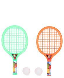 Mansaji Racket Set - Green Orange