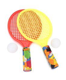 Mansaji Racket Set - Red Yellow