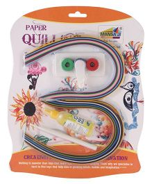 Mansaji Paper Quilling Blister Fancy Design - Multi Color