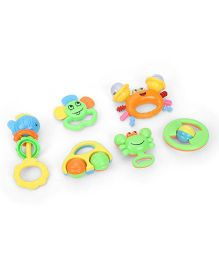 Baby Rattles Set Pack of 6 - Multicolour