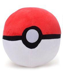 Pokemon Pokeball Plush Toy Red White - 10 Inches