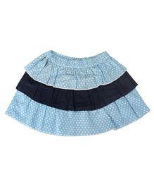 Nino Bambino Layered Dotted Organic Cotton Skirt - Blue