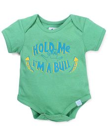 Zeezeezoo Hold Me I Am A Bull Onesie - Green