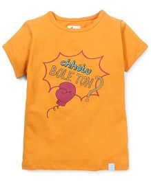 Zeezeezoo Chhotu Bole Toh T-shirt  - Orange