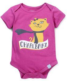 Zeezeezoo Chaalbaaz Print Onesie  - Pink