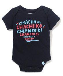 Zeezeezoo Chacha Ne Chachi Ko Onesie - Black