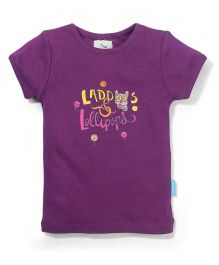 Zeezeezoo Laddoos & Lollipop T -Shirt  - Violet