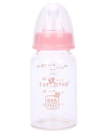 1st Step Glass Feeding Bottle Pink - 125 ml