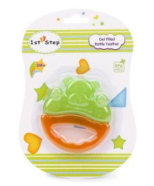 1st Step Gel Filled Rattle Theether - Orange and Green