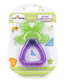 1st Step Gel Filled Rattle Theether - Purple and Green