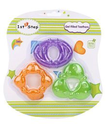 1st Step Gel Filled Rattle Theether Pack of 3 - Orange Purple Green