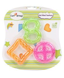 1st Step Gel Filled Rattle Theether Pack of 3 - Orange Green Pink