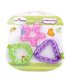 1st Step Gel Filled Rattle Theether Pack of 3 - Pink Purple Green