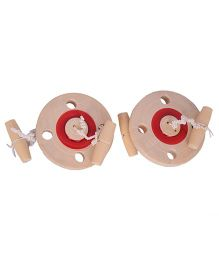 Desi Toys Wooden Chakri Beige - Pack Of 2