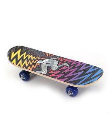 Skateboard Guy Print - Multicolor