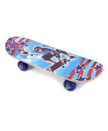 Skateboard Star Print - Blue