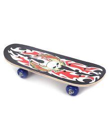 Skateboard Dragon Print - Black Red