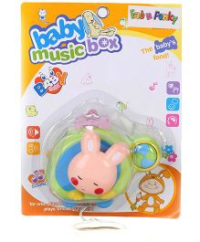 Helicopter Shaped Musical Pull String Toy Rabbit Design - Green Peach