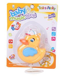 Musical Pull String Duck Toy - Yellow Blue