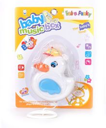 Musical Pull String Duck Toy - White Blue
