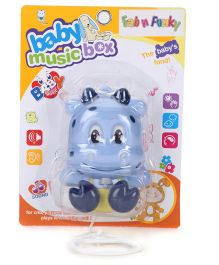 Musical Pull String Cow Toy - Blue