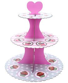 Shopaparty 3 Tier Cupcake Stand - Pink & Grey