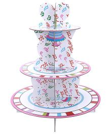 Shopaparty 3 Tier Cupcakes Stand - Pink