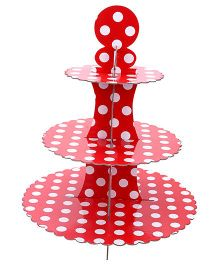Shopaparty 3 Tier Cupcake Stand - Red