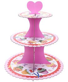 Shopaparty 3 Tier Cupcake Stand - Multi Colour