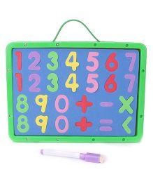 Numeric Cum Writing Board - Green Blue