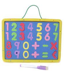 Numeric Cum Writing Board - Yellow Blue