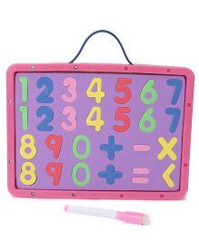 Numeric Cum Writing Board - Pink Purple