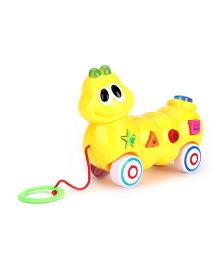 Animal Shaped Pull Along Musical Toy - Yellow
