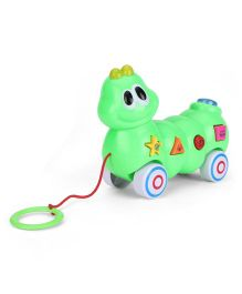 Musical Snail Shape Pull Along Toy - Green