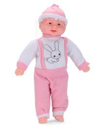 Kids Zone Laughing Doll Rabbit Print Pink - 15 Inches