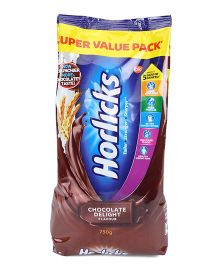 Horlicks Chocolate Flavor - 750 gm Refill Pack