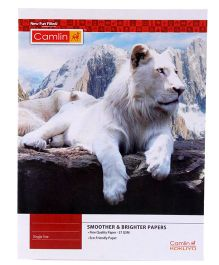 Camlin Single Line Notebook Lion Print - 172 Pages