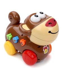 Musical Pull Along Monkey Toy - Brown