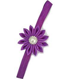 Little Miss Cuttie Flower Headband - Purple