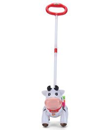 Baby Cow Shape Musical Toy - Black And White