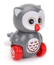 Owl Design Wind Up Toy Car - Grey
